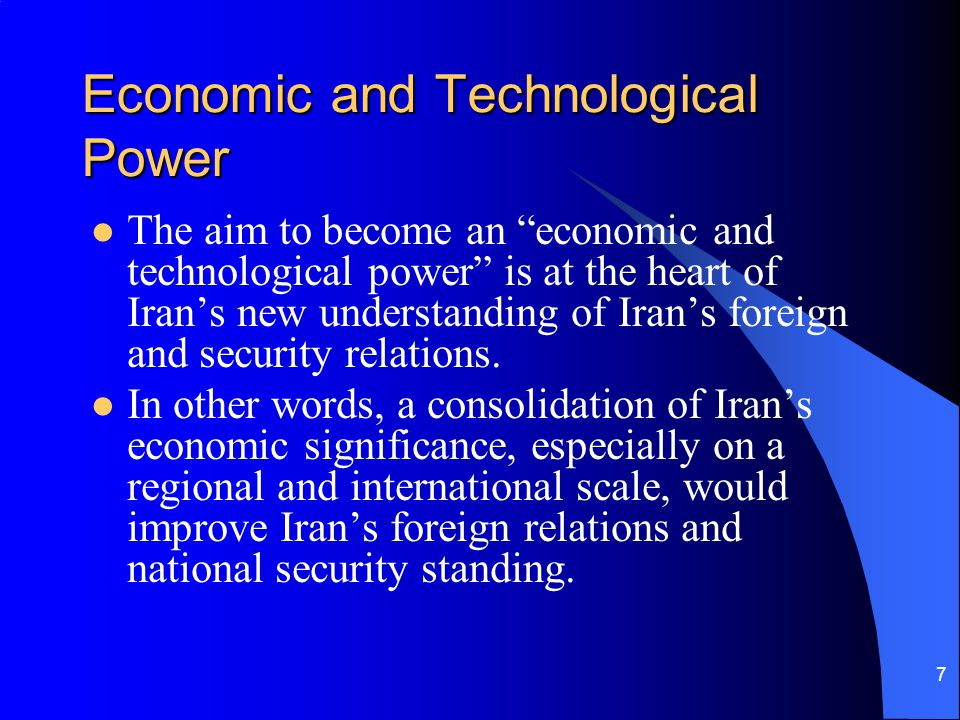 Economic and Technological Power