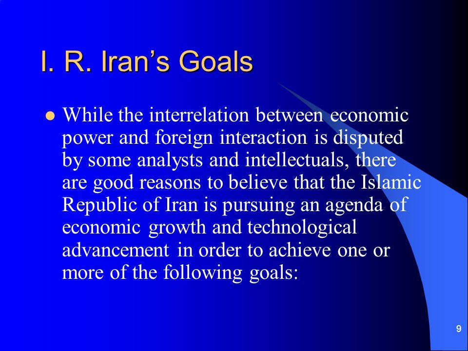 I. R. Iran's Goals
