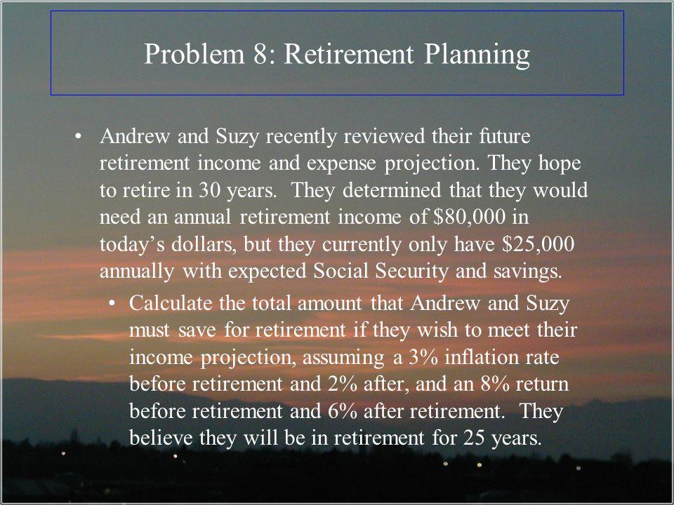 Problem 8: Retirement Planning