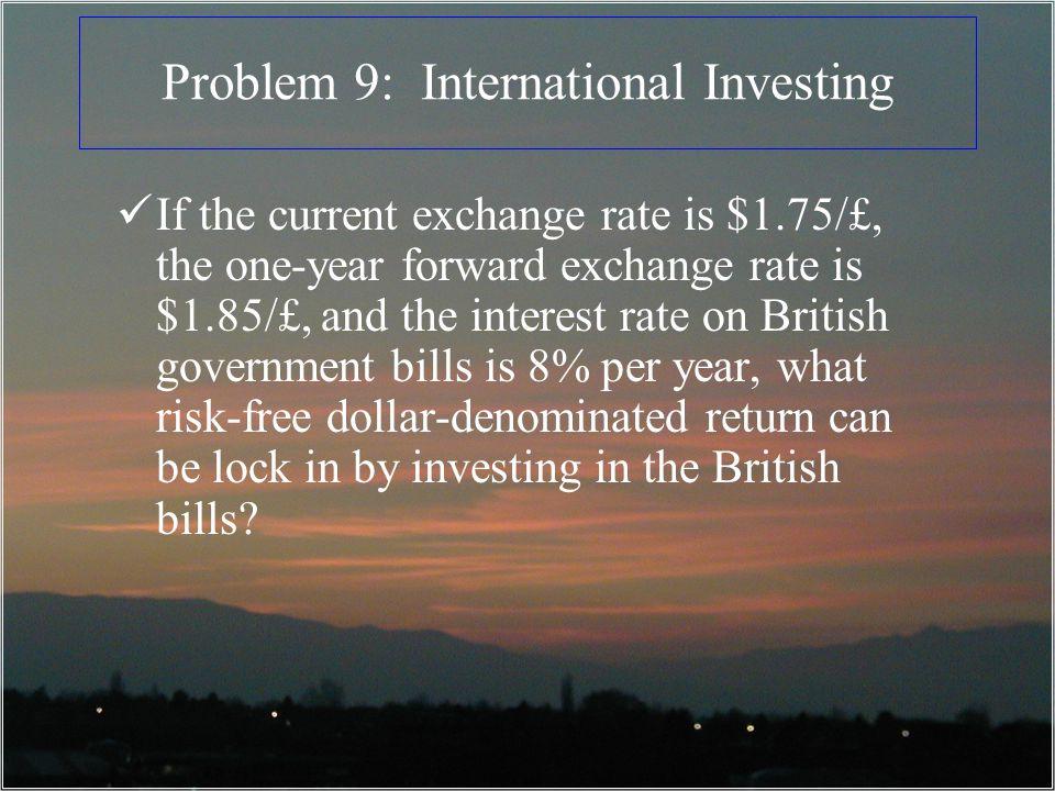 Problem 9: International Investing