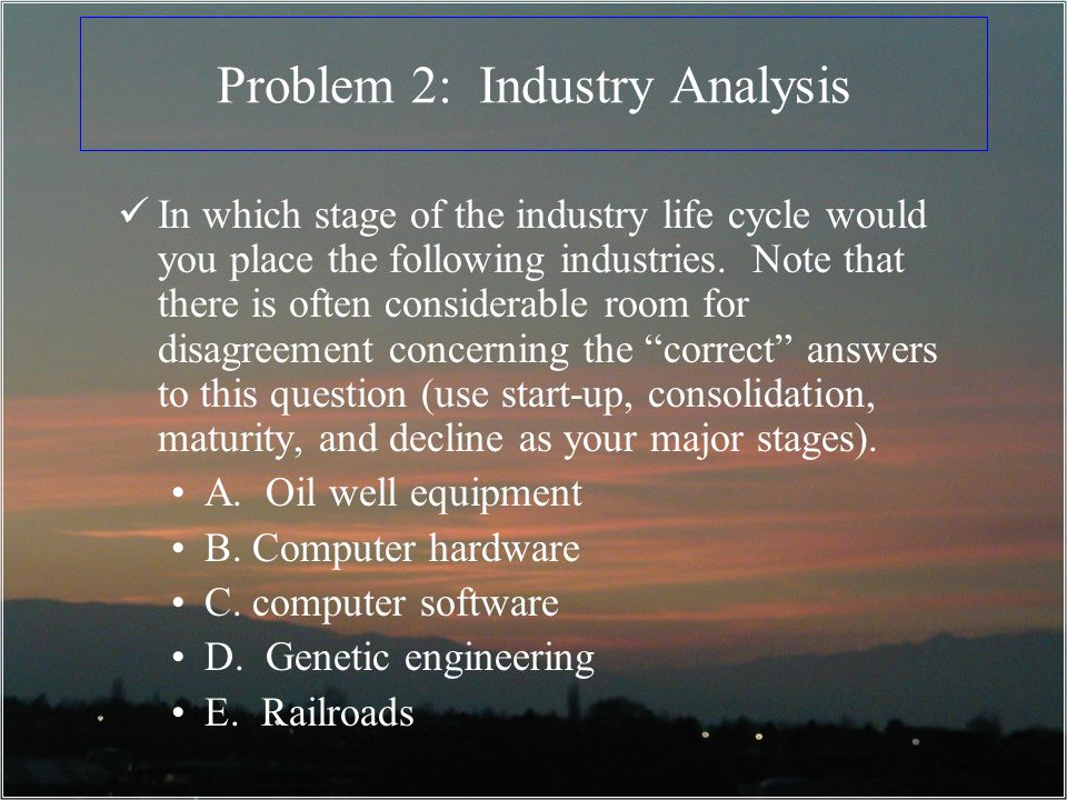 Problem 2: Industry Analysis