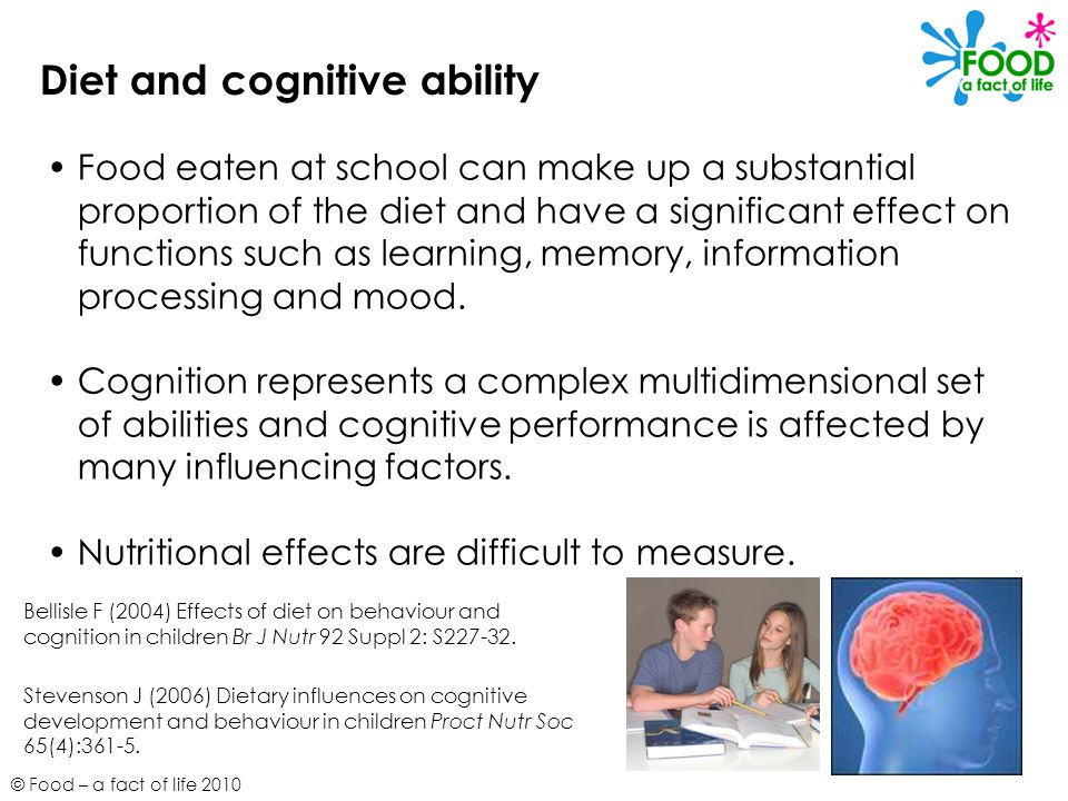 Diet and cognitive ability