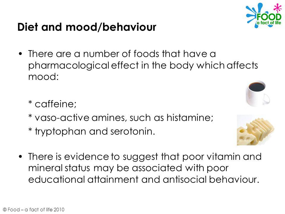 Diet and mood/behaviour