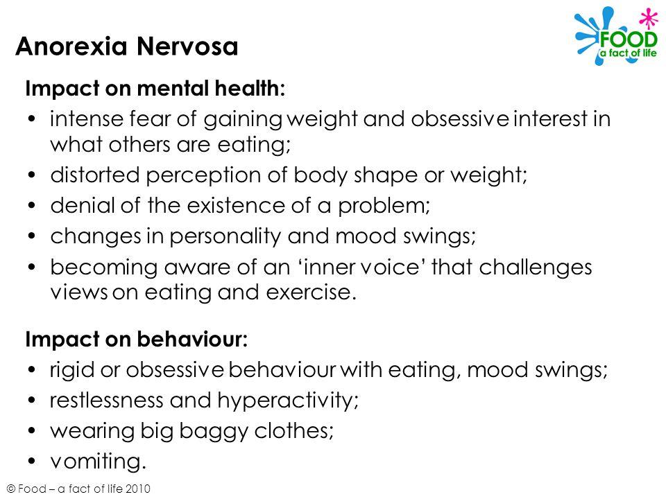 Anorexia Nervosa Impact on mental health: