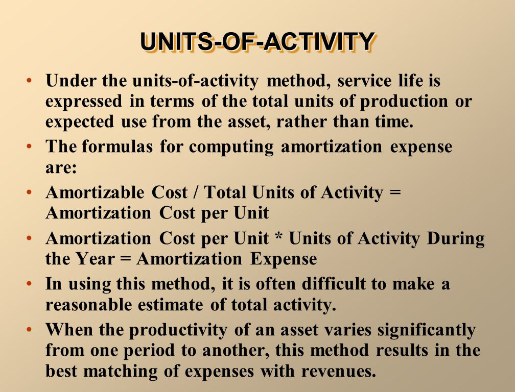 UNITS-OF-ACTIVITY