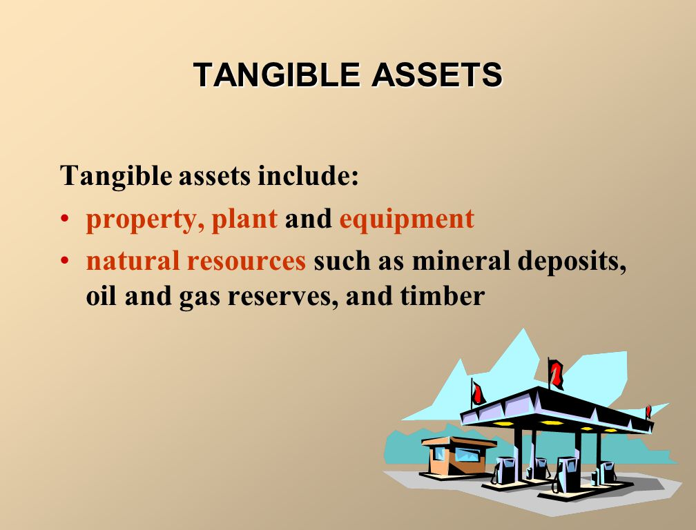 TANGIBLE ASSETS Tangible assets include: property, plant and equipment