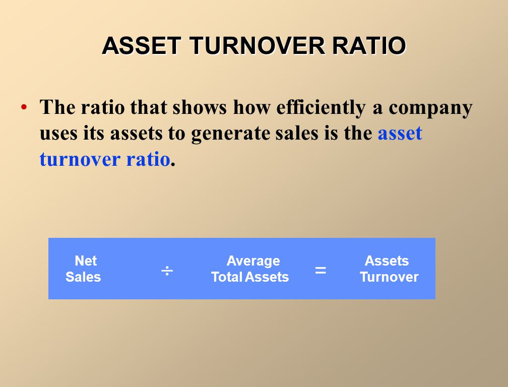 Sales Total Assets Turnover