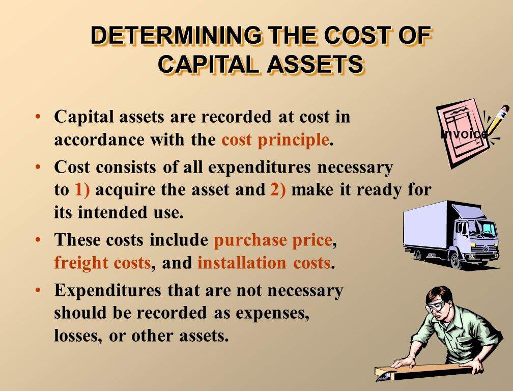 DETERMINING THE COST OF CAPITAL ASSETS