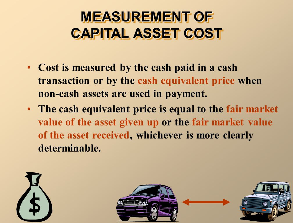 MEASUREMENT OF CAPITAL ASSET COST