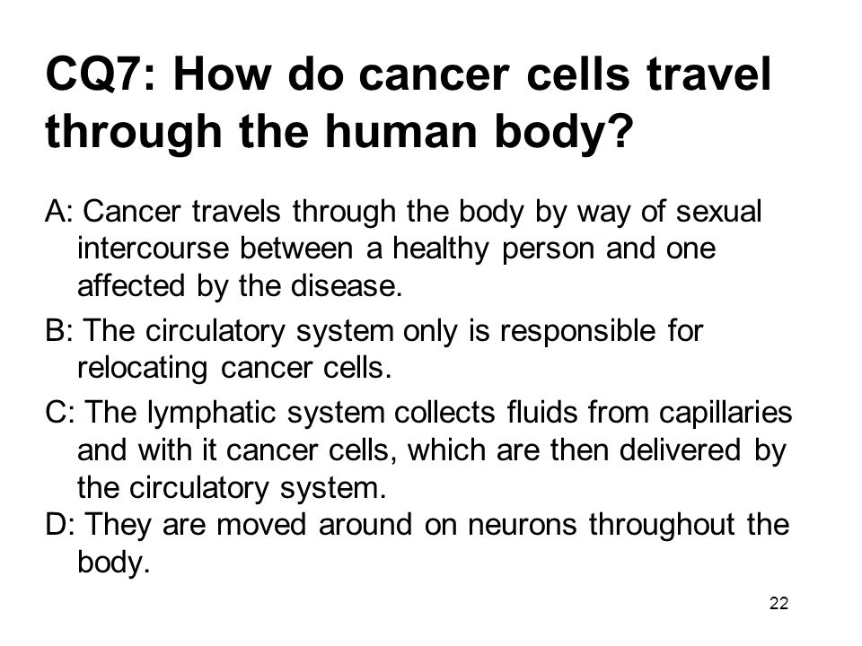 CQ7: How do cancer cells travel through the human body