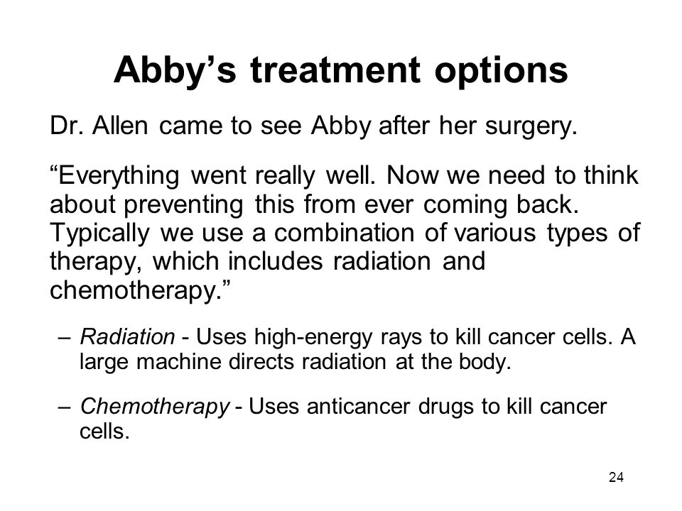 Abby's treatment options