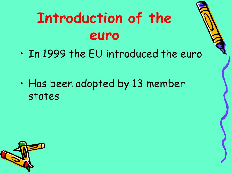 Introduction of the euro