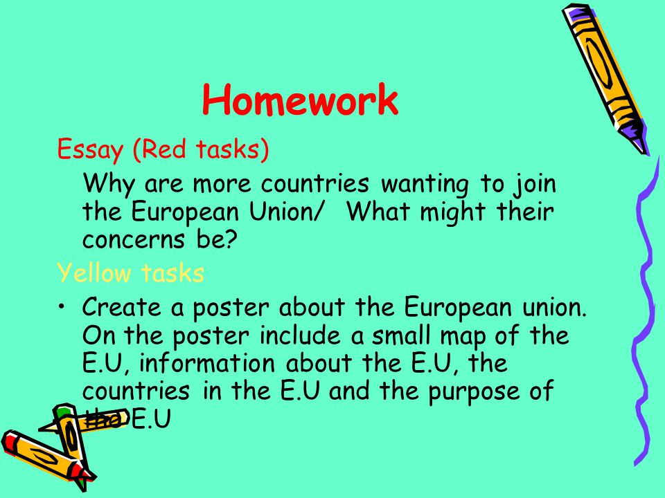 Homework Essay (Red tasks)