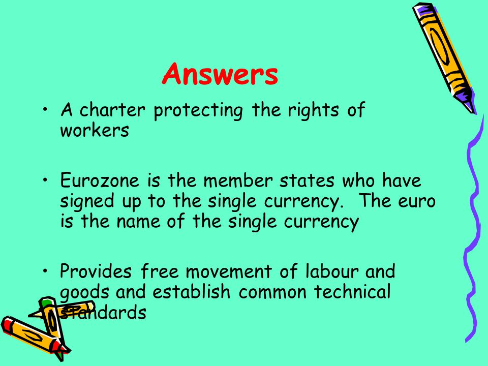 Answers A charter protecting the rights of workers