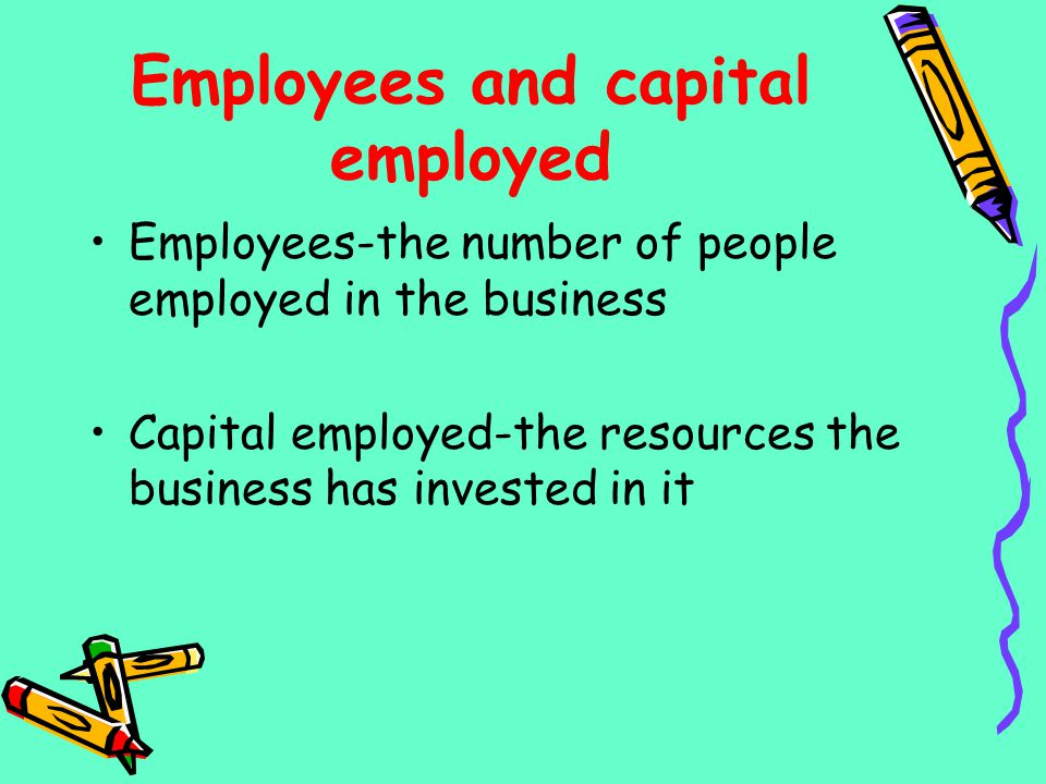 Employees and capital employed