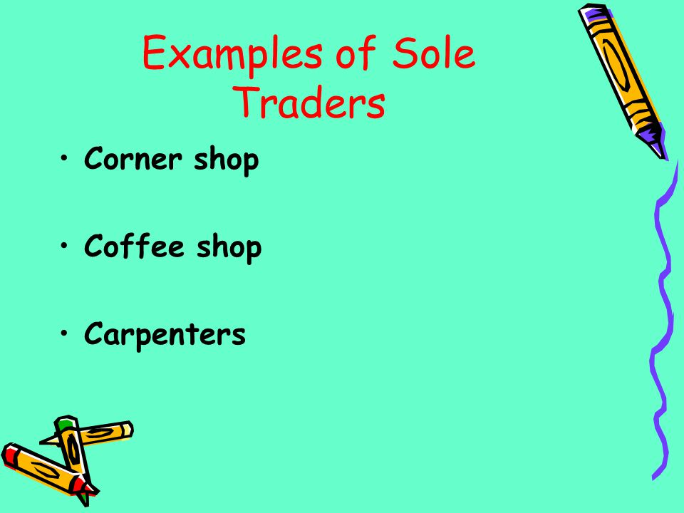 Examples of Sole Traders