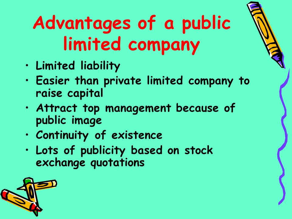 Advantages of a public limited company