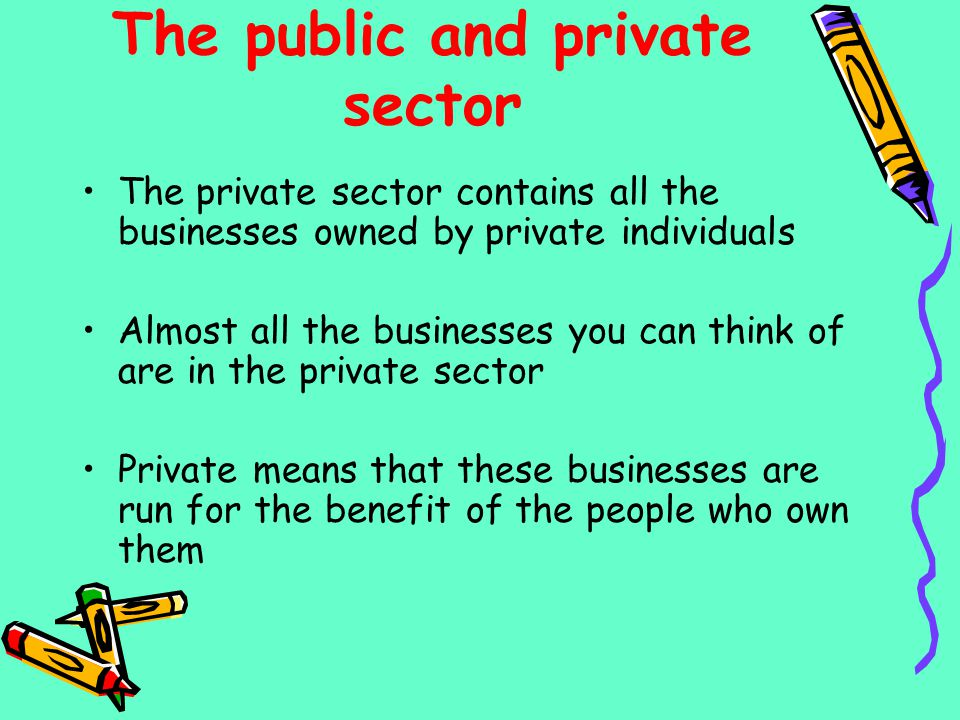 The public and private sector