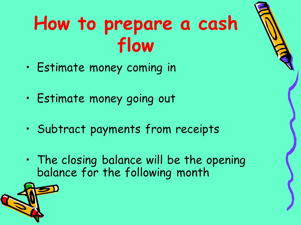 How to prepare a cash flow