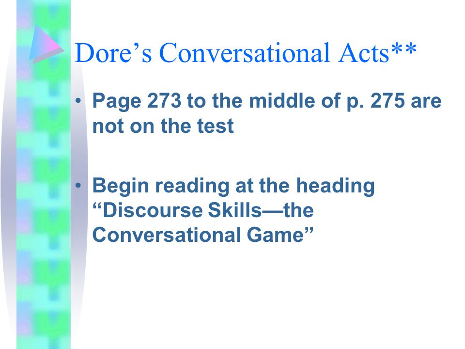 Dore's Conversational Acts**