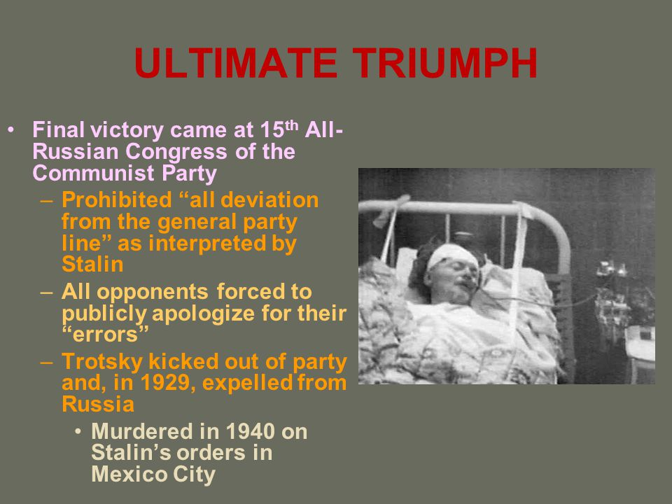 ULTIMATE TRIUMPH Final victory came at 15th All-Russian Congress of the Communist Party.