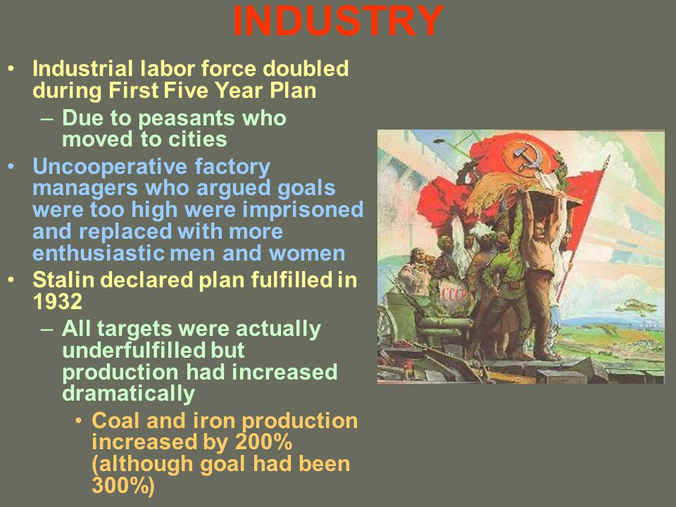 INDUSTRY Industrial labor force doubled during First Five Year Plan