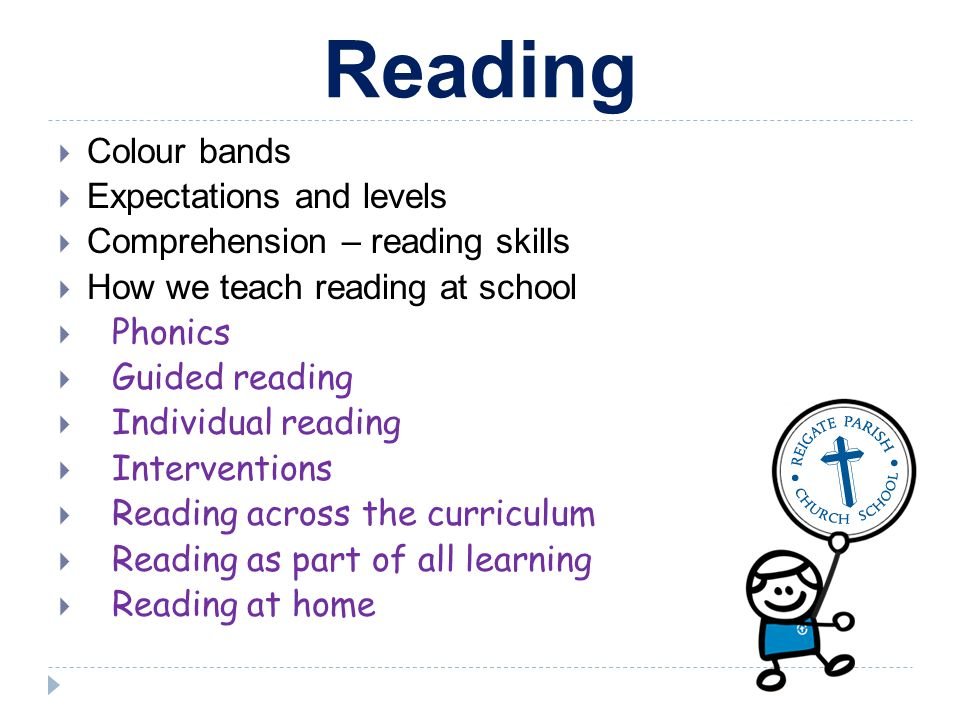 Reading Colour bands Expectations and levels