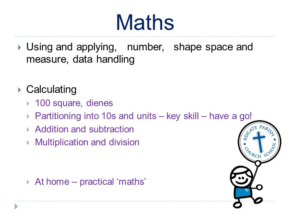 Maths Using and applying, number, shape space and measure, data handling. Calculating. 100 square, dienes.
