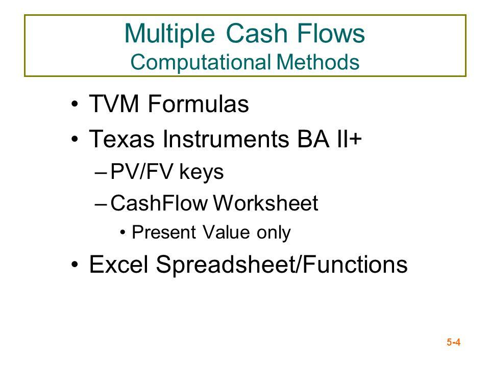 Multiple Cash Flows Computational Methods