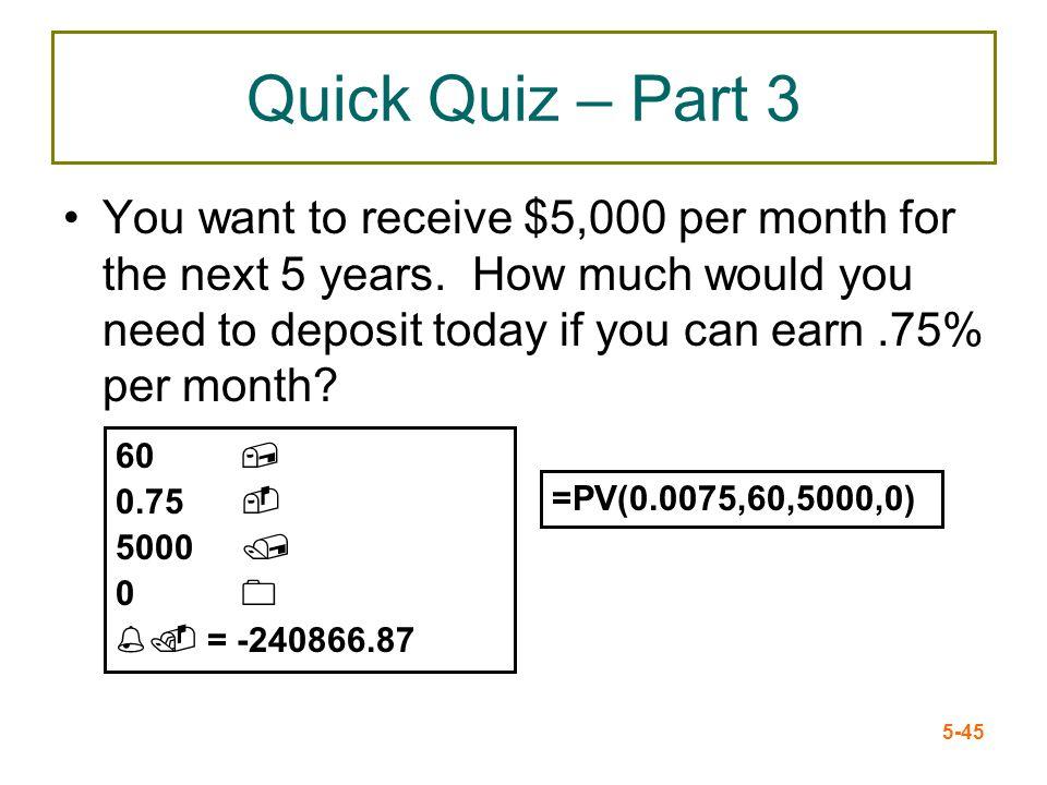 Quick Quiz – Part 3
