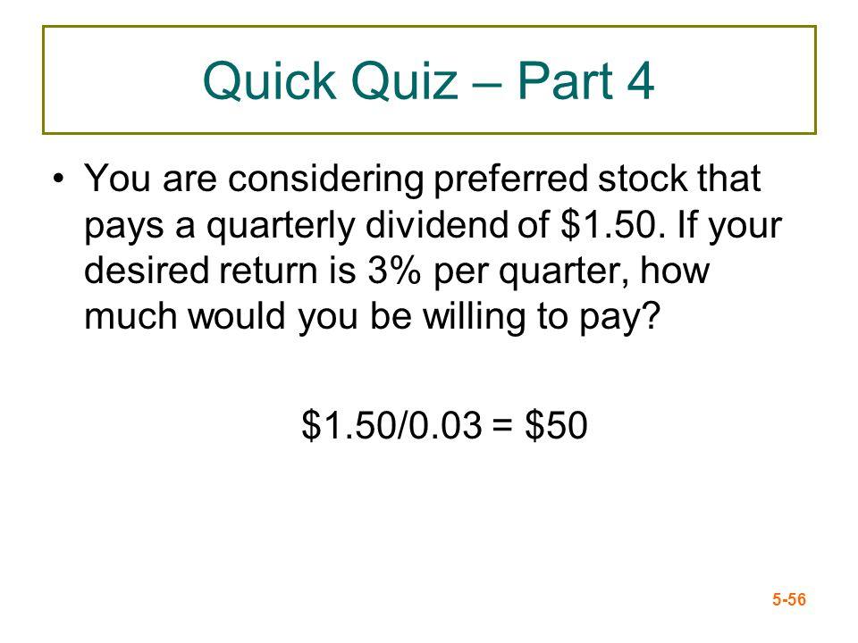 Quick Quiz – Part 4