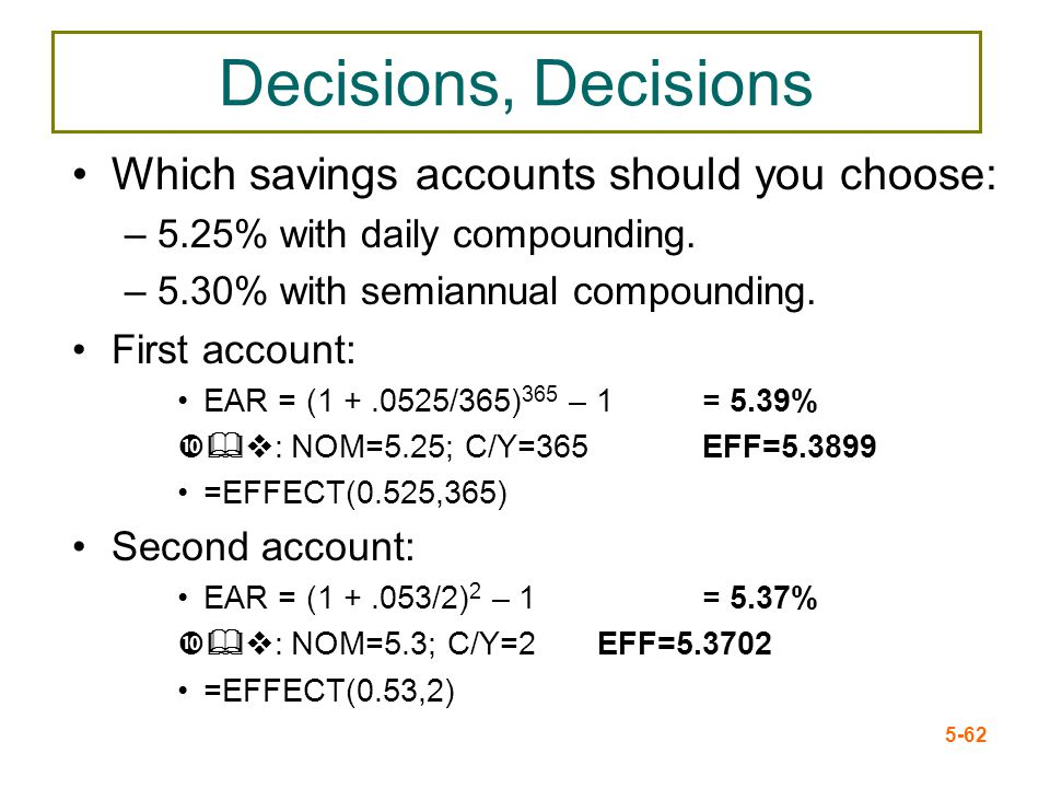 Decisions, Decisions Which savings accounts should you choose: