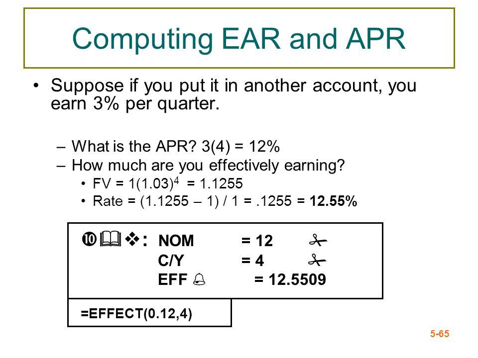 Computing EAR and APR &v: NOM = 12 #
