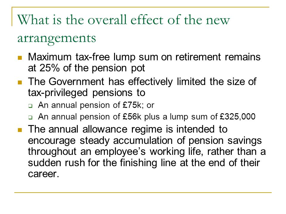 What is the overall effect of the new arrangements
