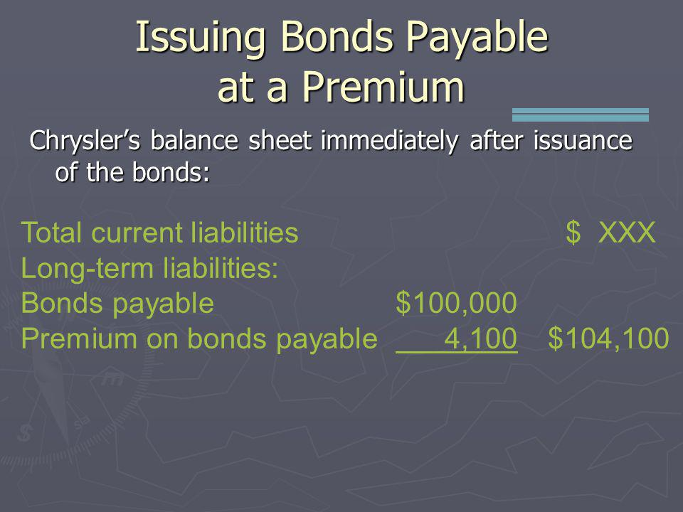 Issuing Bonds Payable at a Premium