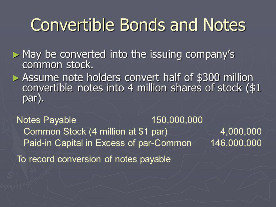 Convertible Bonds and Notes