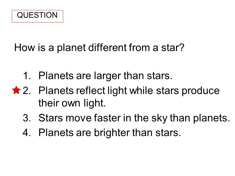 How is a planet different from a star