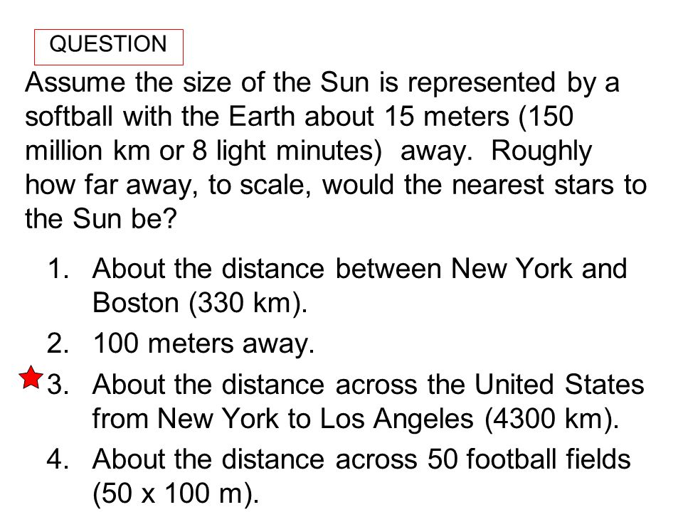 About the distance between New York and Boston (330 km).