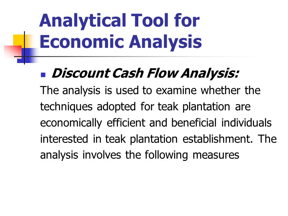 Analytical Tool for Economic Analysis