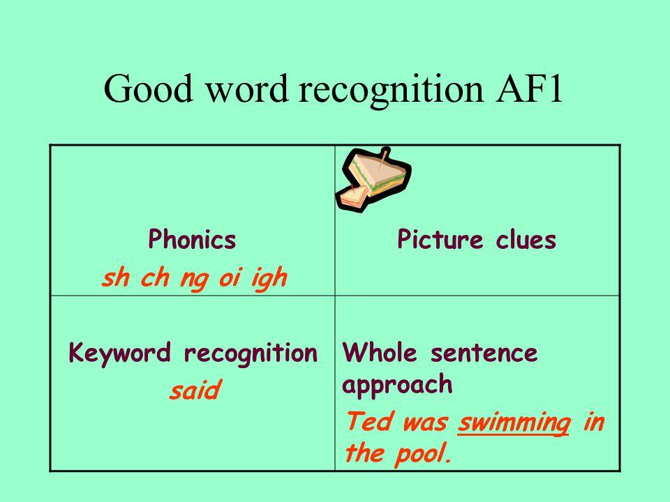 Good word recognition AF1
