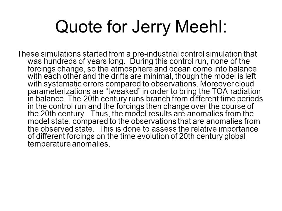 Quote for Jerry Meehl: