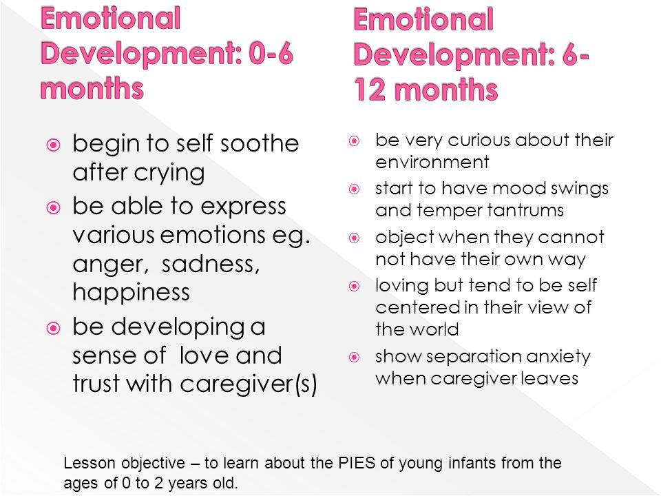 Emotional Development: 0-6 months