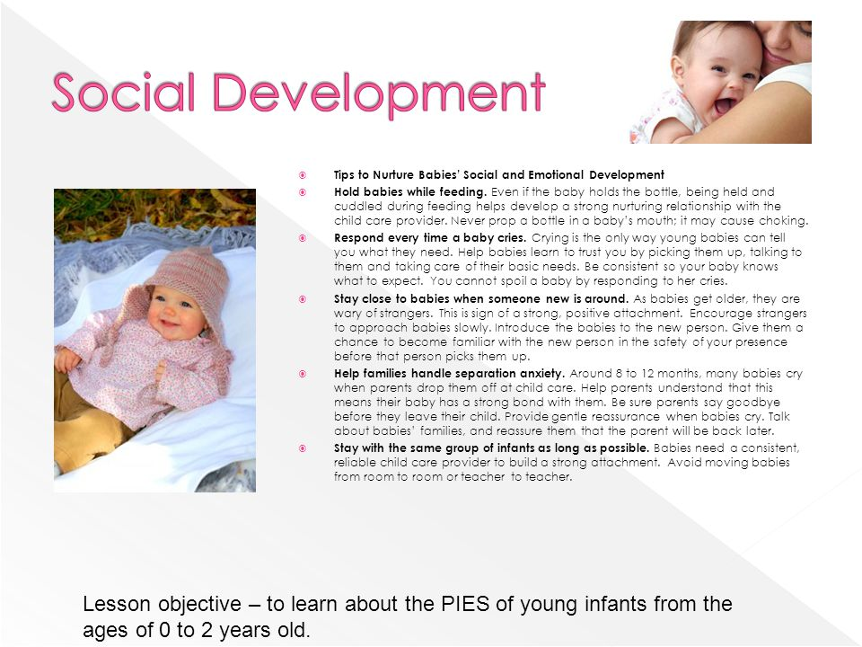 Social Development Tips to Nurture Babies' Social and Emotional Development.