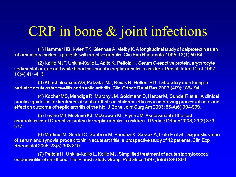 CRP in bone & joint infections