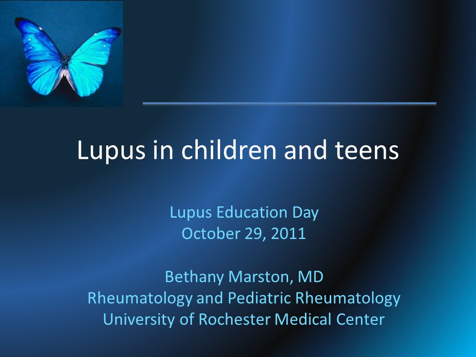 Lupus in children and teens