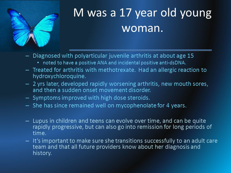 M was a 17 year old young woman.