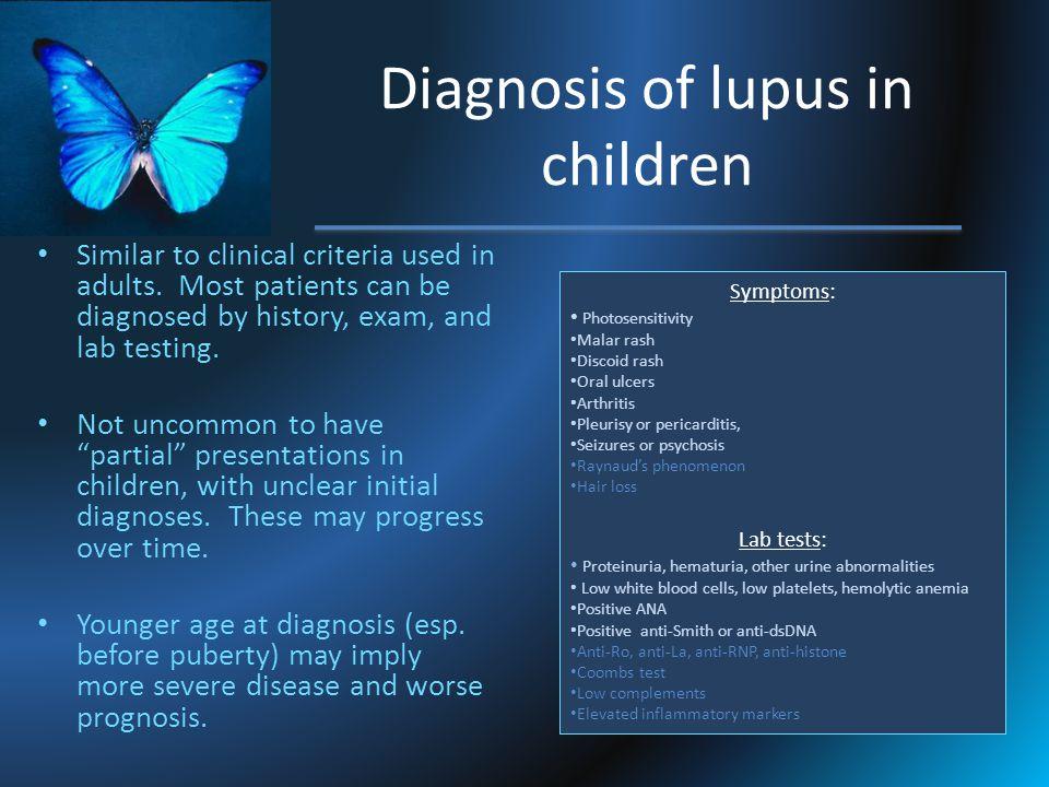 Diagnosis of lupus in children