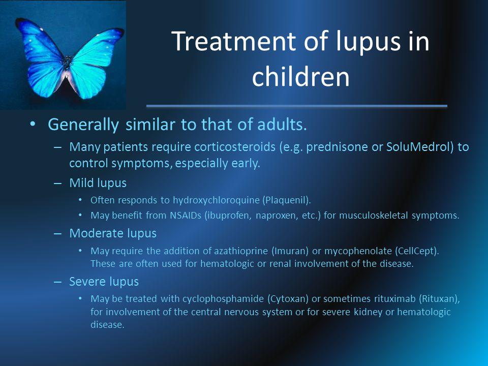 Treatment of lupus in children