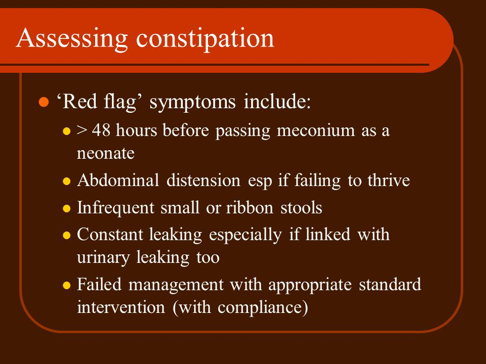 Assessing constipation