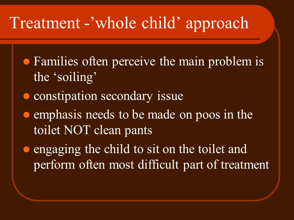 Treatment -'whole child' approach